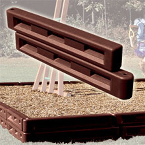 "12"" Plastic Molded Border for Landscape or Playground Mulch"
