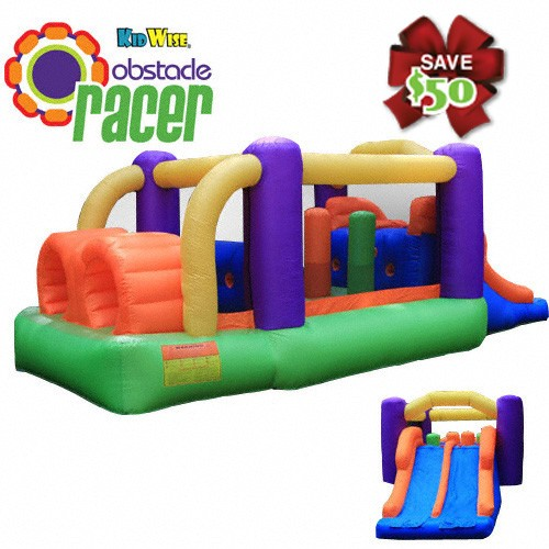 USED Obstacle Speed Racer - Inflatable Bounce House