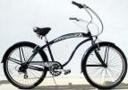 Men's 26 inch 7-Speed Shimano Tourney Deluxe Beach Cruiser - Multiple colors