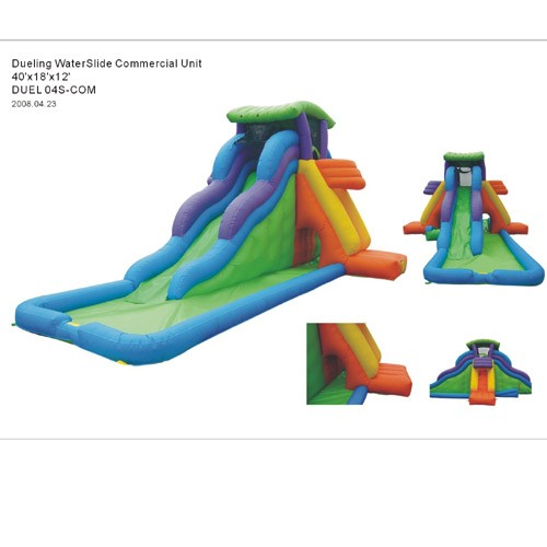 Dueling 4 in 1 Waterslides