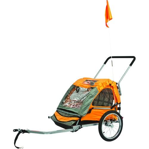Rage 2 Seater Kids Bike Trailer-Stroller