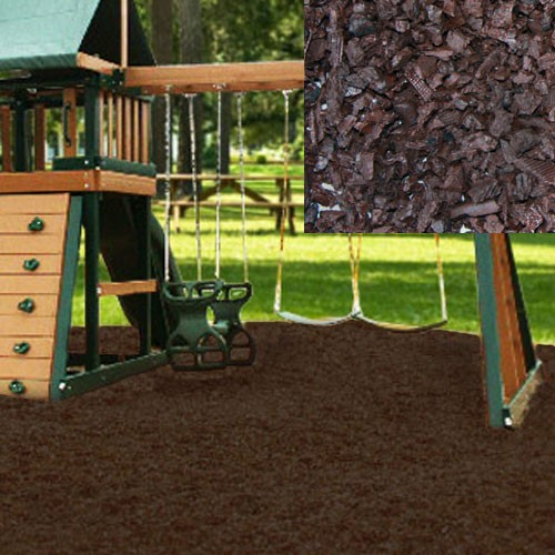 Brown Playground Rubber Mulch