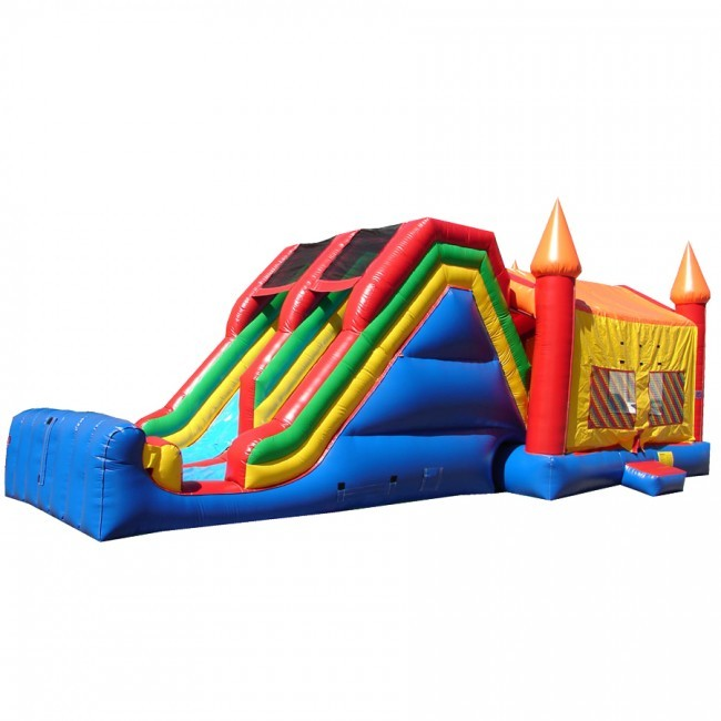 JUMBO Double Lane Jump and Slide - Commercial Combo Bouncer