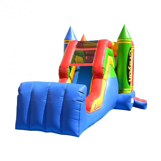 Crayon Themed 5 in 1 Super Castle Combo - Commercial Inflatable Combo