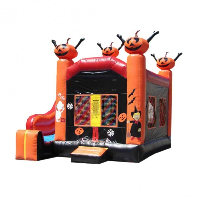 Halloween Themed - 5 x Jump & Splash Castle Combo - Commercial Inflatable Combo