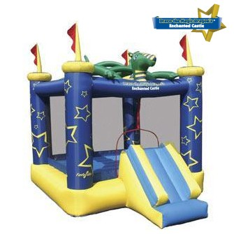 Draco The Magic Dragon Jumping Castle- Inflatable Bounce House