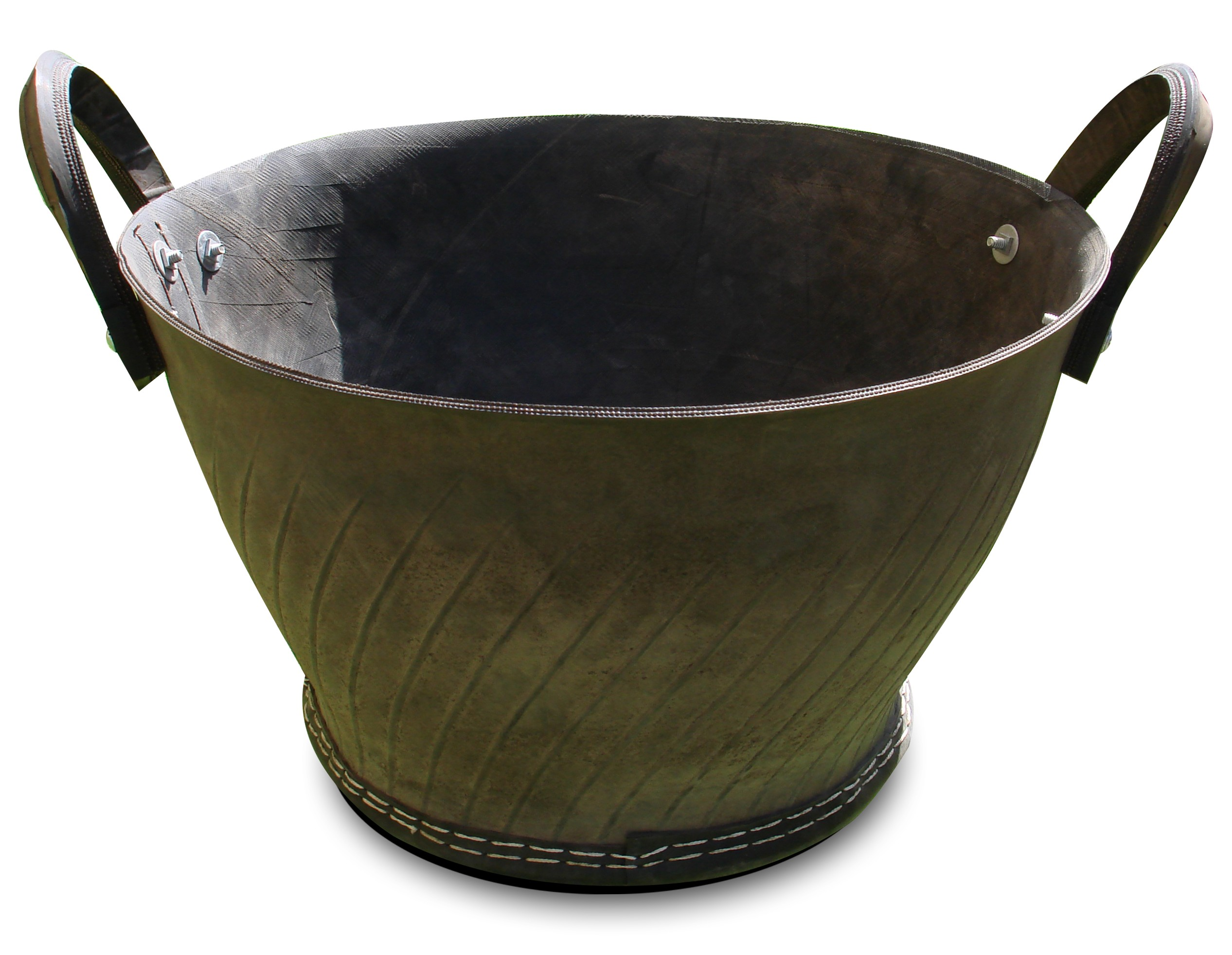 Recycled Rubber Pot - Low Basin