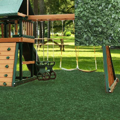Green Playground Rubber Mulch