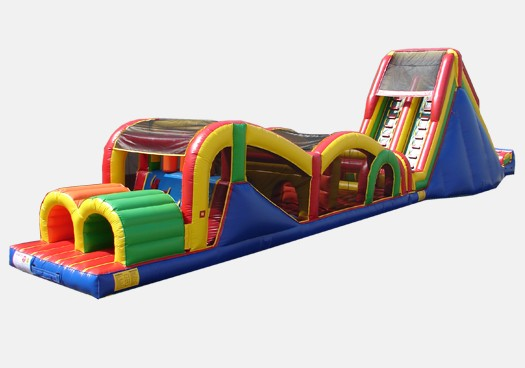 Extreme Rush Obstale Course with 19' Slide - Commercial Obstacle Course