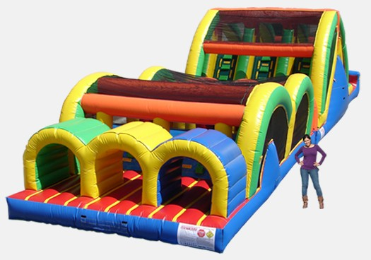 3 Lane Mega Thrill - Commercial Inflatable Obstacle Course