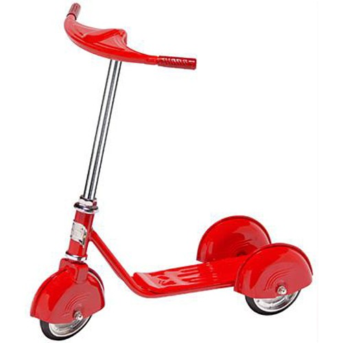Morgan Cycle Retro Style 3 Wheel Scooter RED