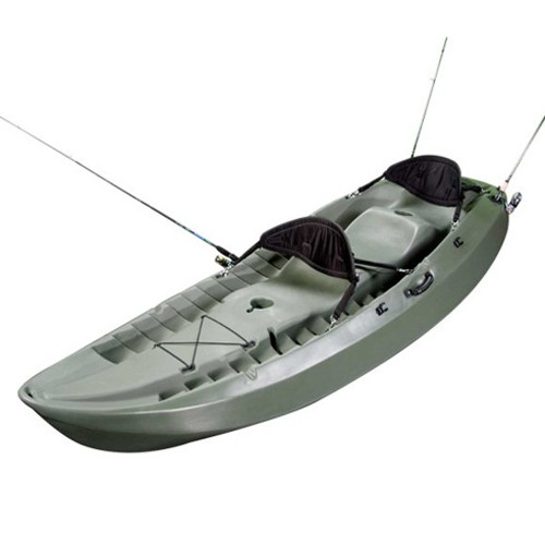 Lifetime 10' Sport Fisher Tandem Kayak - (OD Green, Paddles, Backrest)