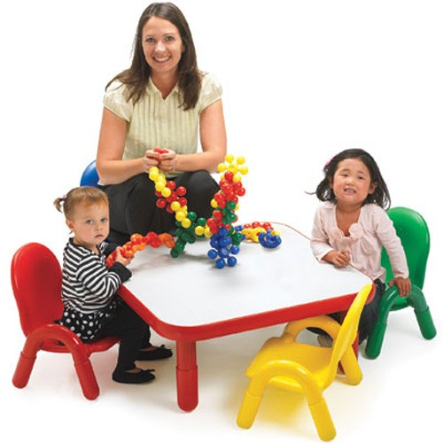 Angeles® Baseline® Toddler Square Table & 4 Chair Set, Multiple Colors