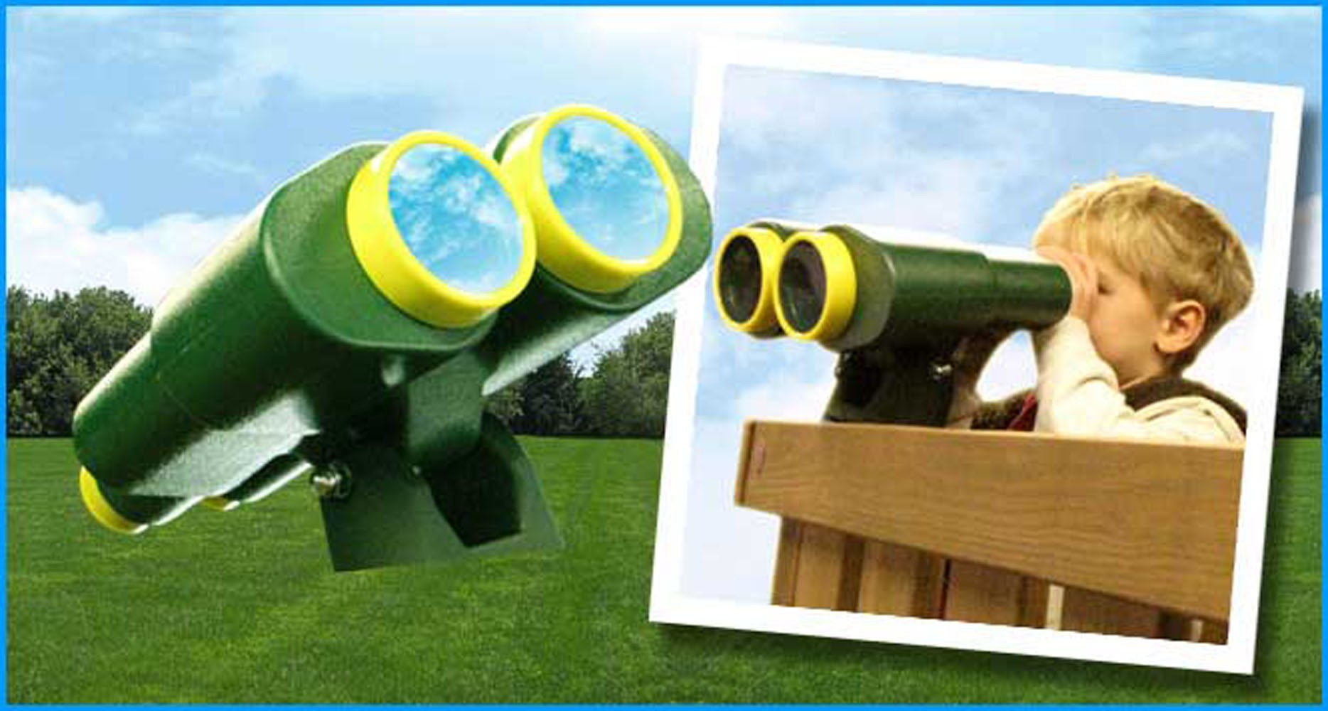 Kidwise Green and Yellow Binoculars