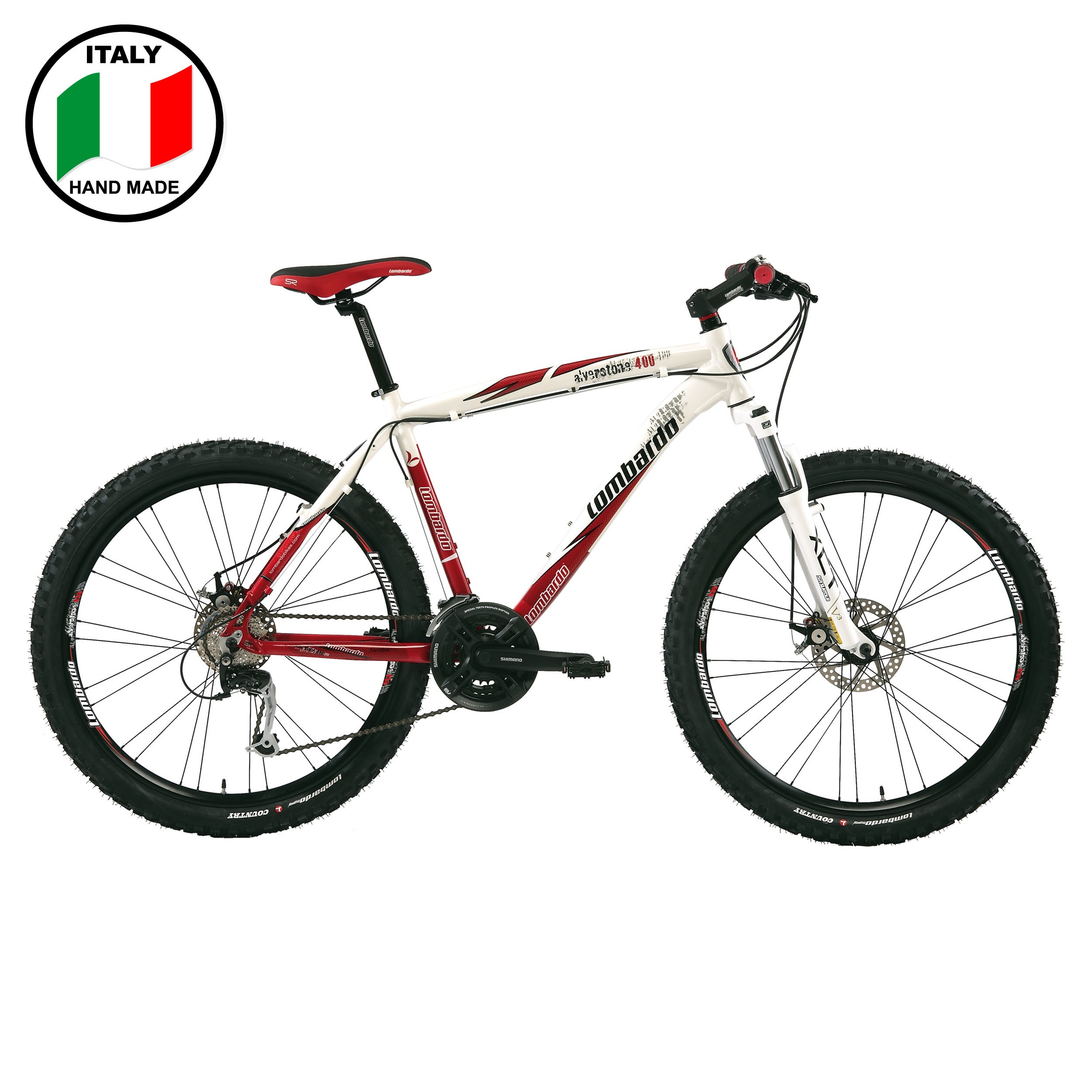 Lombardo Alverstone 400 26 inch Bike- White and Red