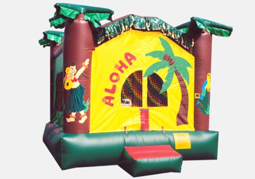 Aloha Hawaiian Bouncer - Commercial Inflatable Bounce House