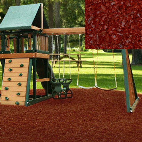 Cedar Red Playground Rubber Mulch