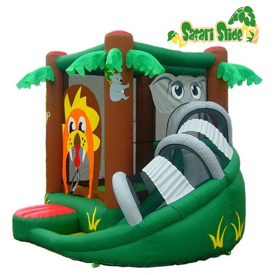 KidWise Safari Bounce and Slide - Inflatable Bounce House