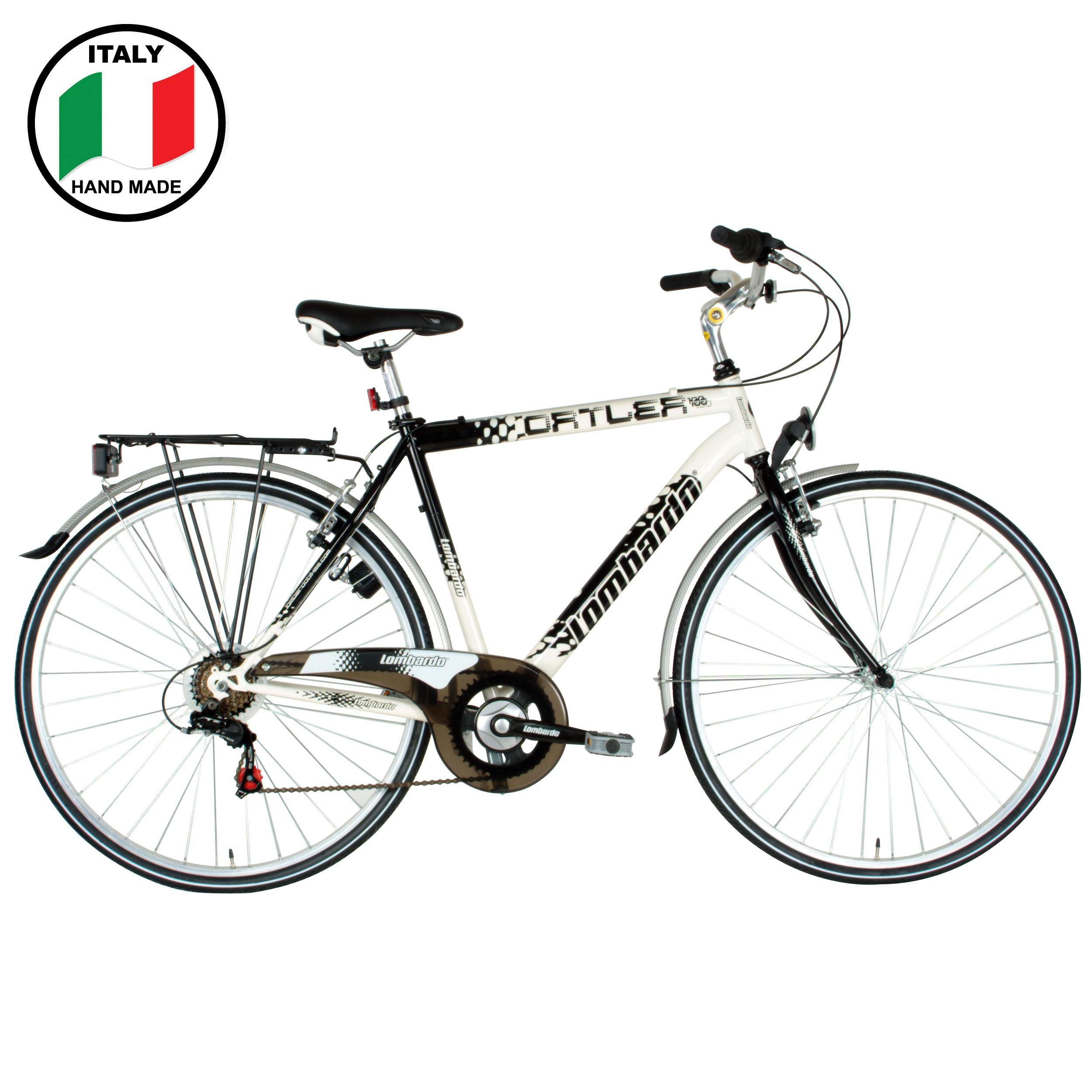 Lombardo Ortler 100 28 inch Men's Bike- Black and White