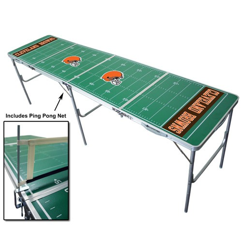Browns NFL Licensed Fold-able Tailgate Table with Ping Pong Net