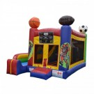 Sports Themed - 5 x Jump & Splash Castle Combo - Commercial Inflatable Combo