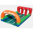 Inflatable Derby - 3 Lanes with 3 Horses Commercial Interactive Game