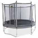 NEW JumpFree PROLINE 14 Foot Trampoline With Safety Enclosure - Titanium Gray
