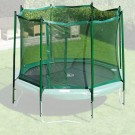 Safety Enclosure for JumpFree Trampolines - Green (Multiple Sizes)