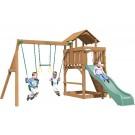 Playtime Eastport Swing Set With 8 Ft Green Wave Slide