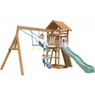 Playtime Raleigh Swing Set With 8 Ft Green Wave Slide