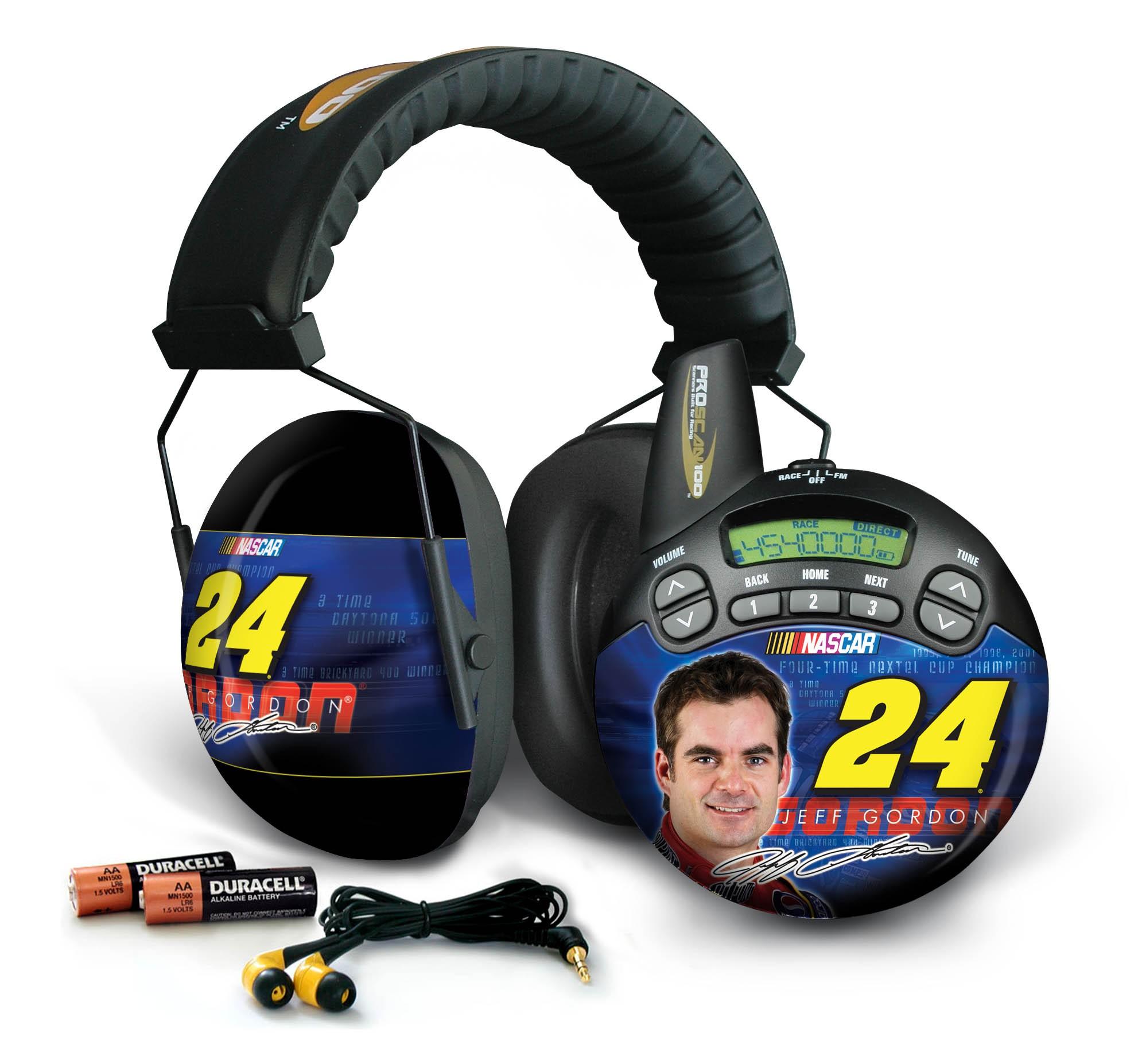 Jeff Gordon #24  Nascar ProScan 100 Trackside Scanner and Earmuff