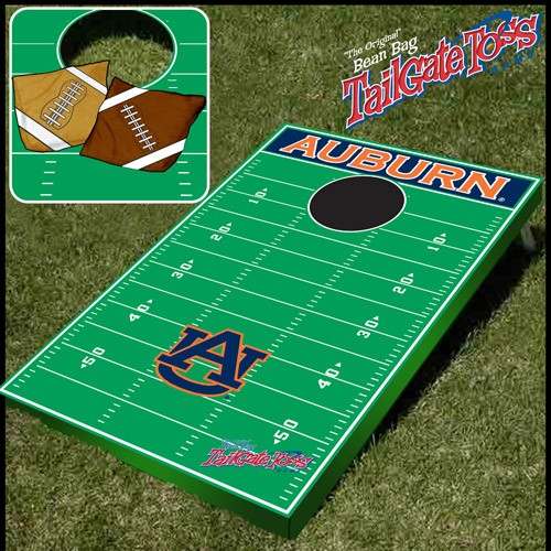 Auburn- NCAA Licensed Football Field - Bean Bag Toss and Corn Hole Game