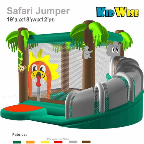 KidWise Safari Jumper - Commercial Grade Inflatable Bounce House