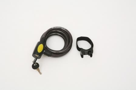 Cable Bike Lock w/ 2 Keys and Bracket