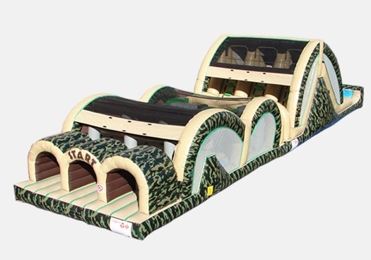 Camo 3 Lane Mega Thrill - Commercial Inflatable Obstacle Course
