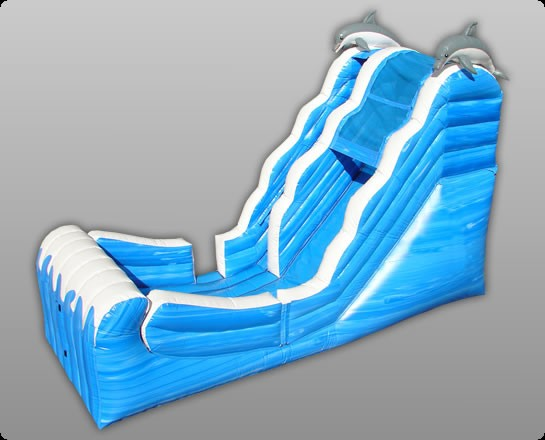16' Ocean Wet & Dry Inflatable Slide - Commercial Inflatable