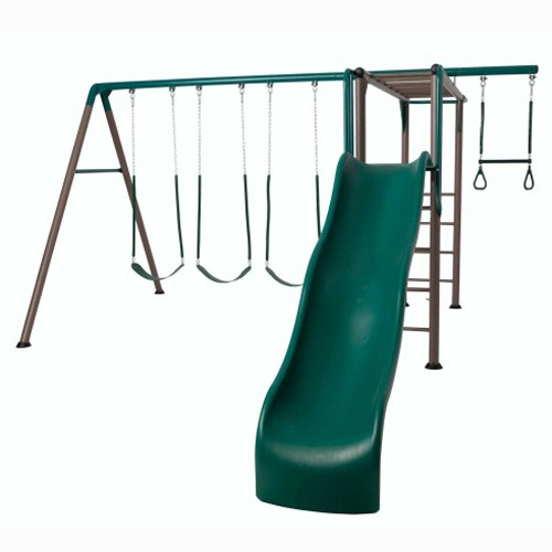 Lifetime Monkey Bar Adventure Swing Set (Earthtone Colors)