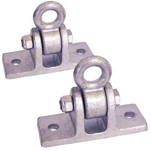Commercial Swing Hanger Galvanized to Attach to Wooden Beams Set of 2