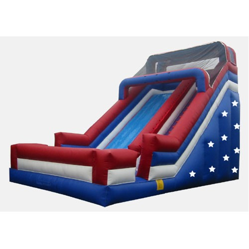24' Patriotic Single Lane Slide - Commercial Grade Slide