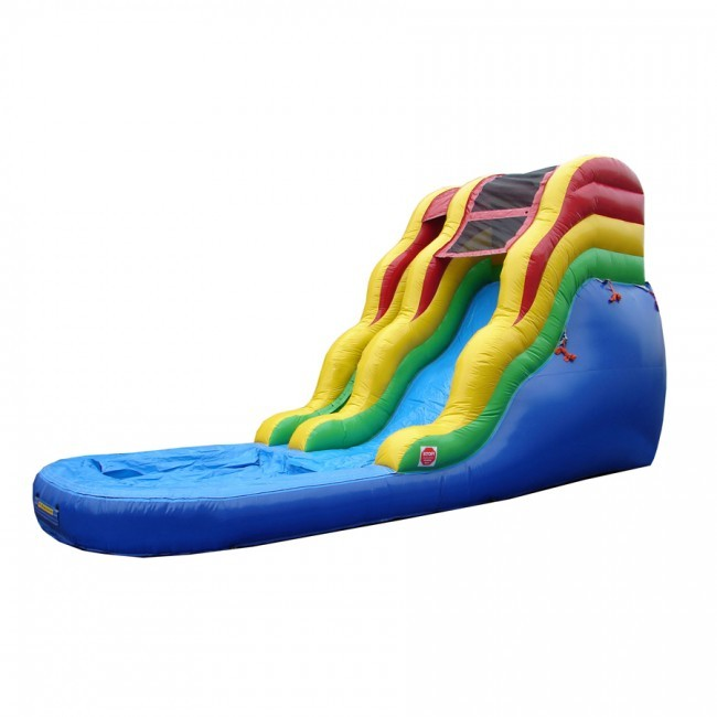 16' Primary Colors Waterslide - Commercial Grade Inflatable