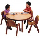 Angeles® Baseline® Preschool Round Table & 4 Chair Set, Multiple Colors