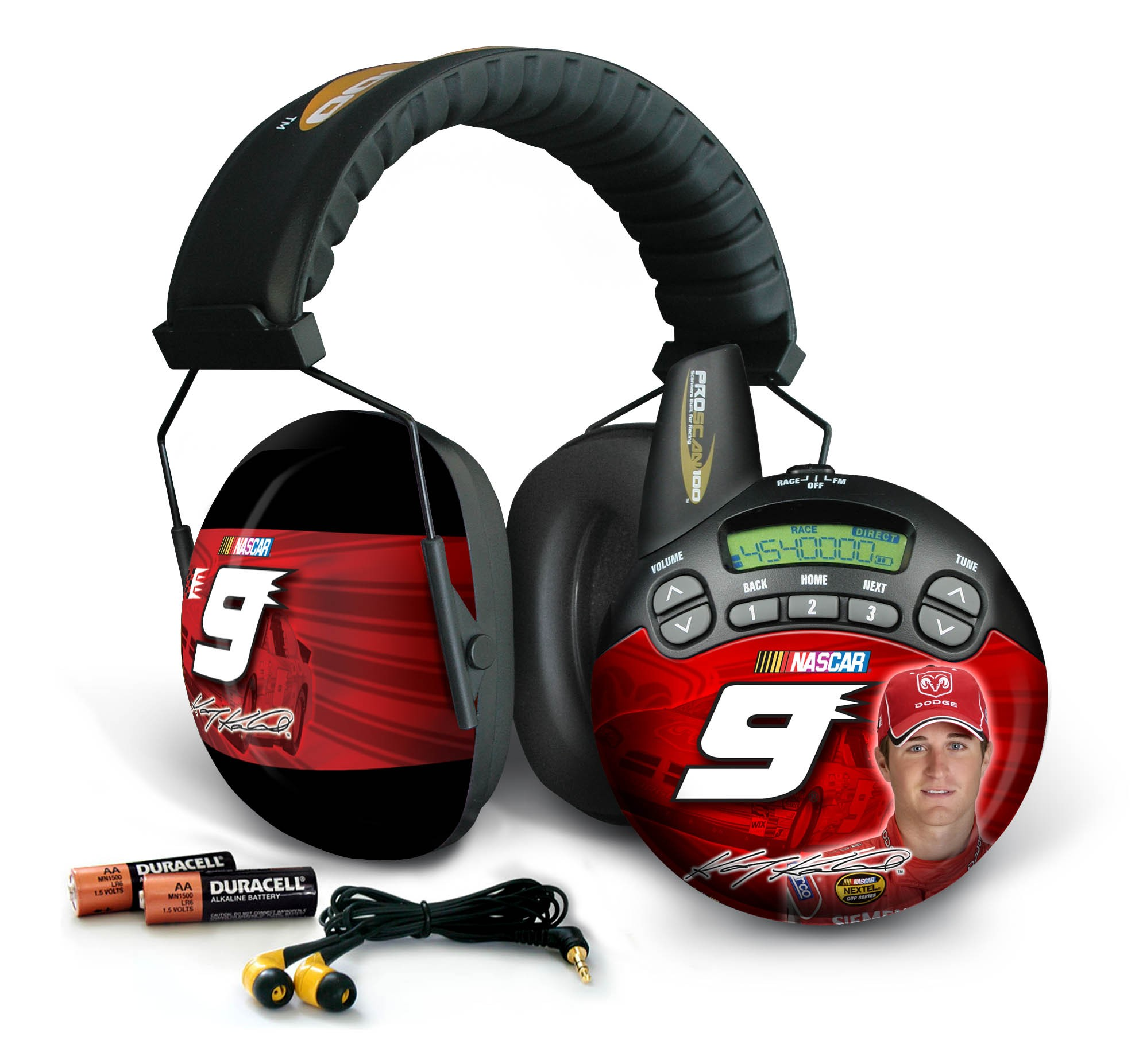 Kasey Kahne #9  ProScan 100 Trackside Scanner and Earmuff