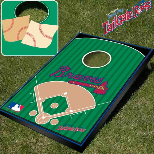 Atlanta Braves- MLB Licensed - Bean Bag Toss and Corn Hole Game