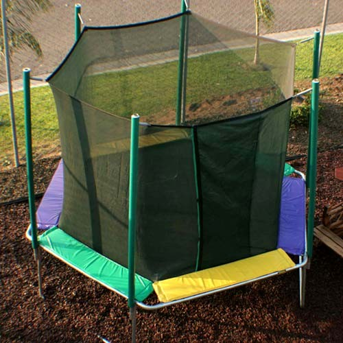 12' Hexagon Trampoline with Safety Cage