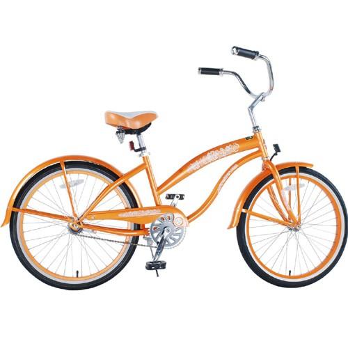 Orange Ladies Beach Cruiser