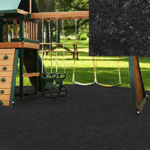 Black Playground Rubber Mulch