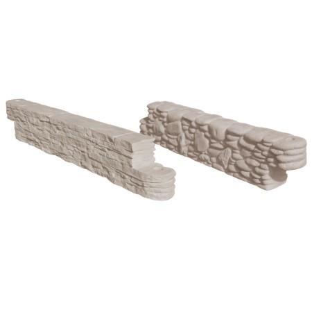 Decorative Faux Stone Mulch Borders