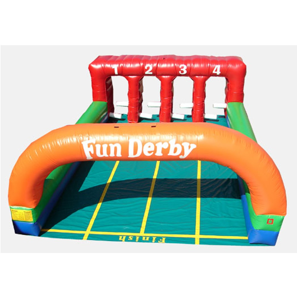 4 Lane Inflatable Derby - Commercial Grade Interactive Game