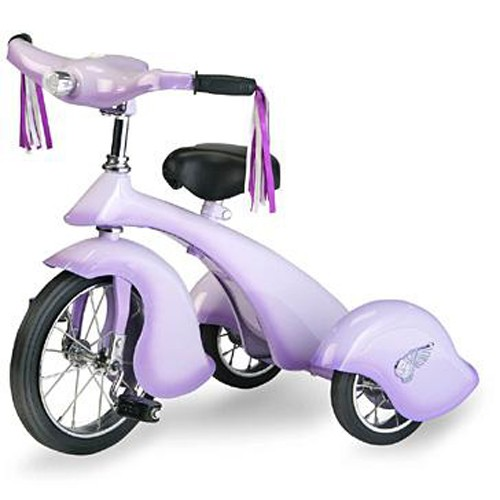 Morgan Cycle Retro Style Lavender Rod Steel Tricycle