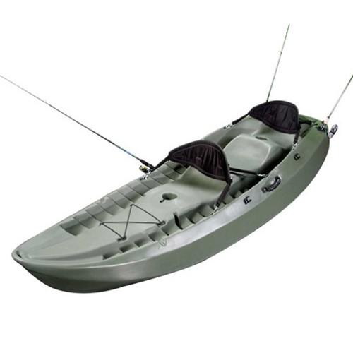 Lifetime 10' Sport Fisher Tandem Kayak - (OD Green, Paddles, Backrest)